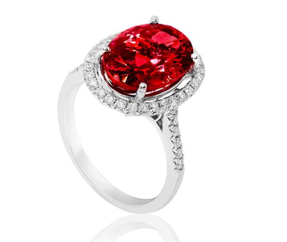 انگشتر سنگ یاقوت سرخ یا روبی