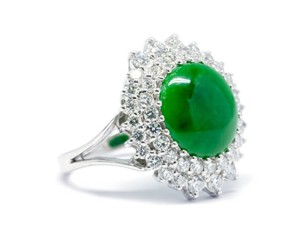 انگشتر یشم سبز