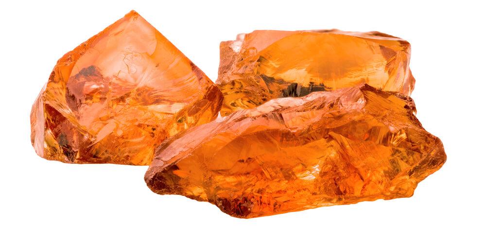 سنگهای نارنجی رنگ