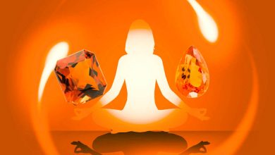 رنگ درمانی با سنگهای نارنجی-روانشناسی رنگ نارنجی