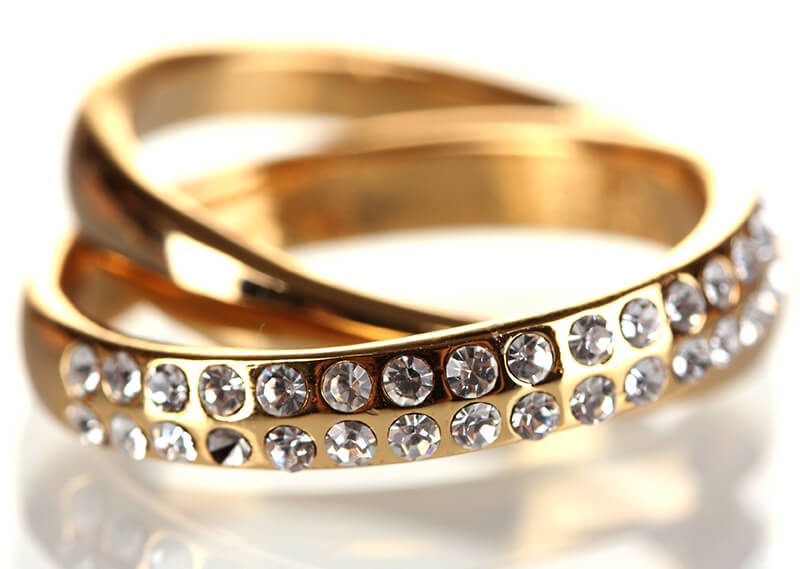 حلقه نگین الماس طرح جدید