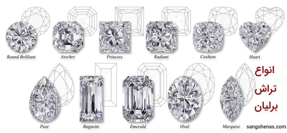 انواع معروف تراش الماس