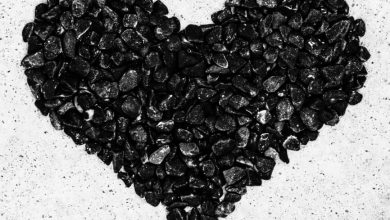 رنگ درمانی با سنگهای سیاه رنگ - روانشناسی رنگ سیاه