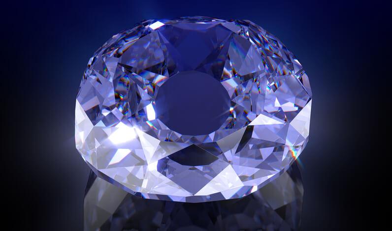 الماس آبی
