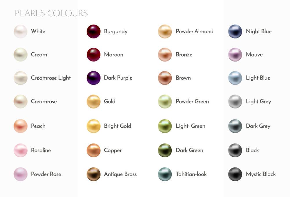 انواع رنگ مروارید