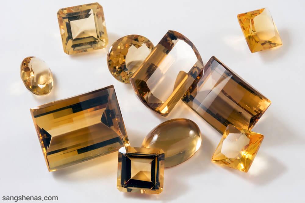 انواع تراش سنگ سیترین طلایی