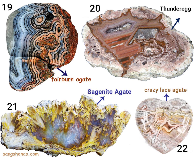 انواع شکل های سنگ عقیق در طبیعت