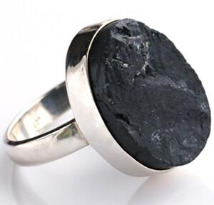 انگشتر اونیکس سیاه طبیعی
