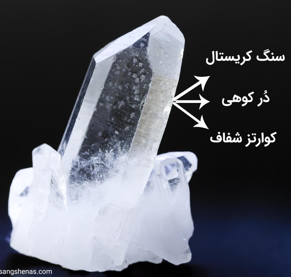 سنگ کوارتز شفاف(در کوهی)