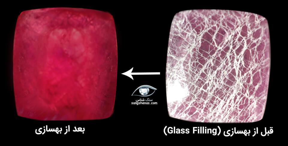 یاقوت سرخ بهسازی شده به روش لید گلس یا پرشده با شیشه سرب دار
