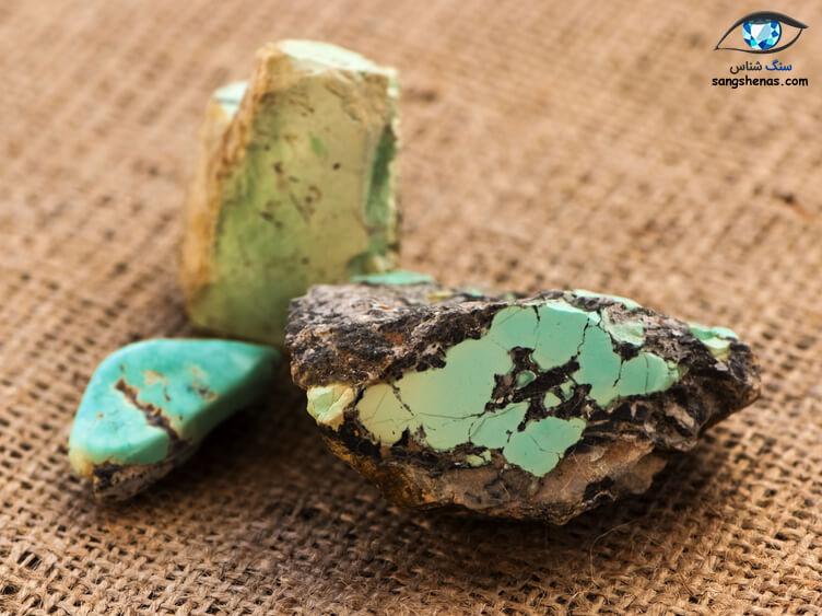 سنگ فیروزه خام