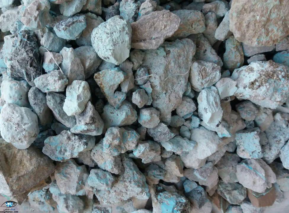 سنگ فیروزه کم کیفیت آماده احیا