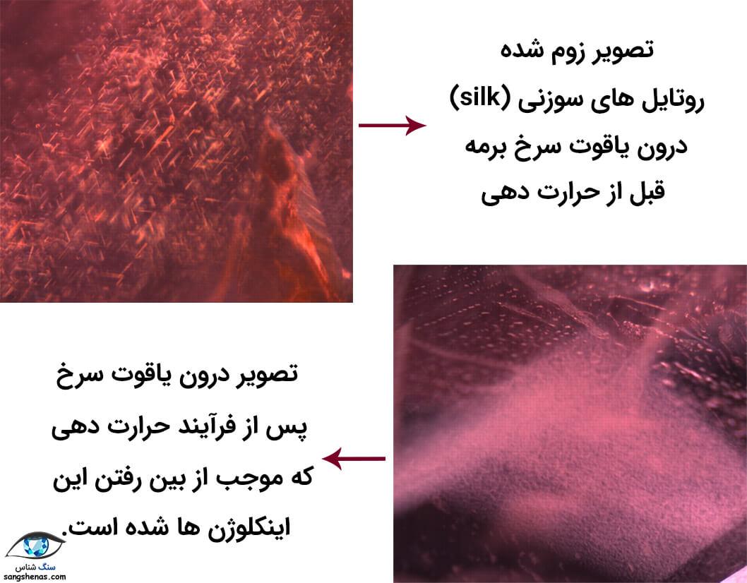 بهسازی یاقوت سرخ با حرارت دهی