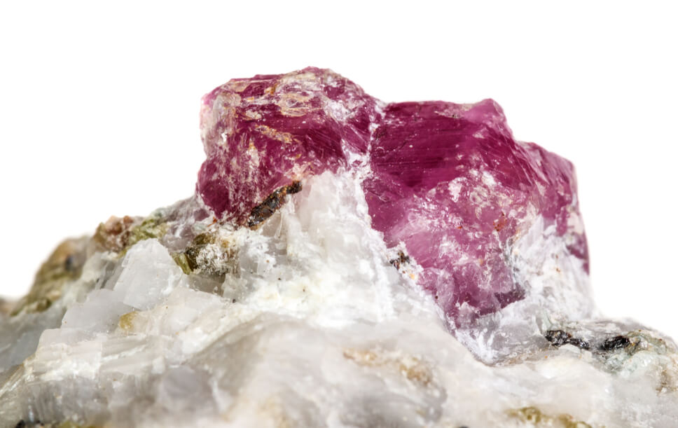 spinel in Marble matrix