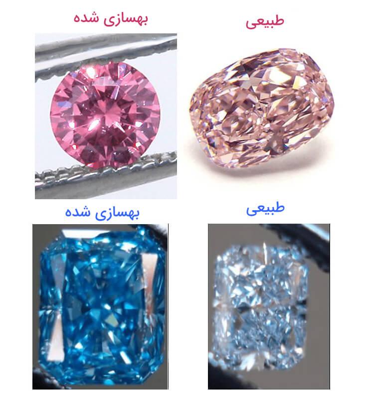 ترمیم الماس به روش پرتو دهی قبل و بعد