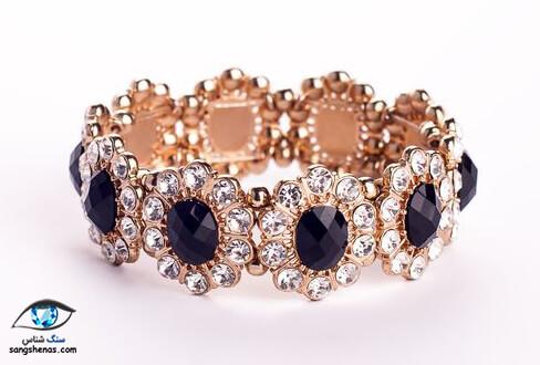 جواهر دستبند با نگین الماس سیاه