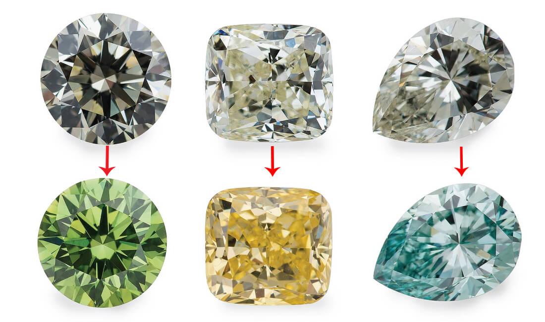 الماس های بهسازی شده به روش تشعشی
