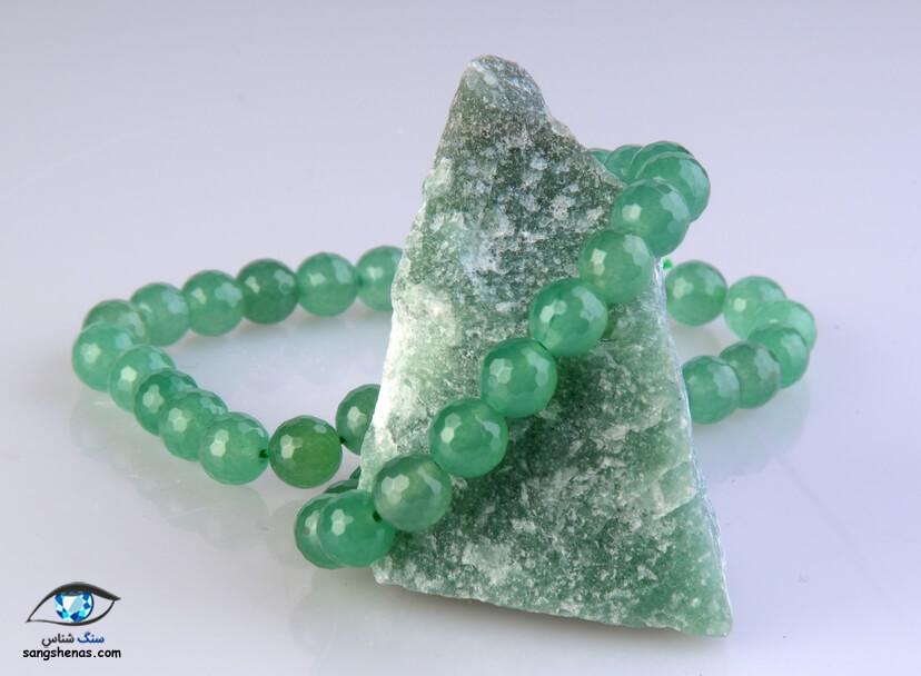 دستبند سنگ آونتورین سبز