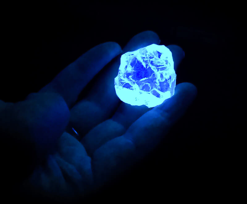 تشخیص سنگ با چراغ قوه UV فرابنفش