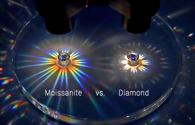 تفاوت جرقه یا چشمک زنی در موزنایت و الماس