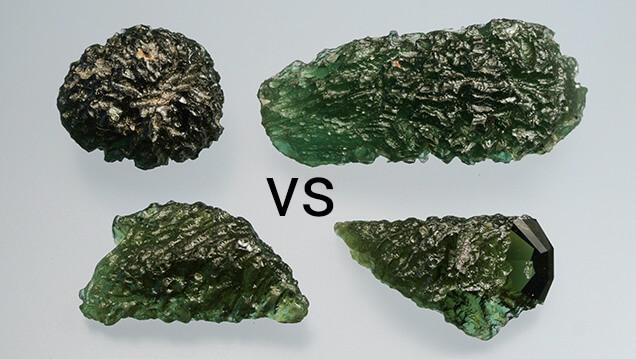 imitation moldavite vs real