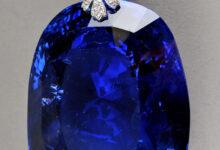 تصویر از سفایر آبی ملکه ماری؛ یکی از بزرگترین یاقوتهای آبی تراشیده شده در جهان