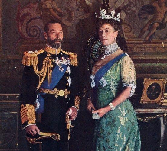 تصویری از ملکه ماری و پادشاه جورج