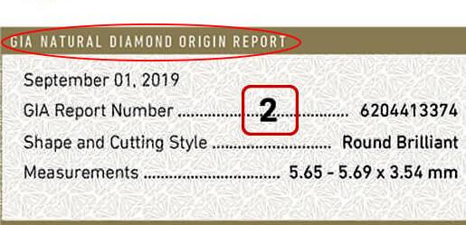 شماره ریپورت الماس GIA