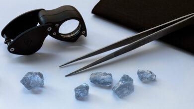 کشف الماس آبی
