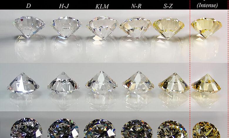 جدول درجه بندی رنگ الماس