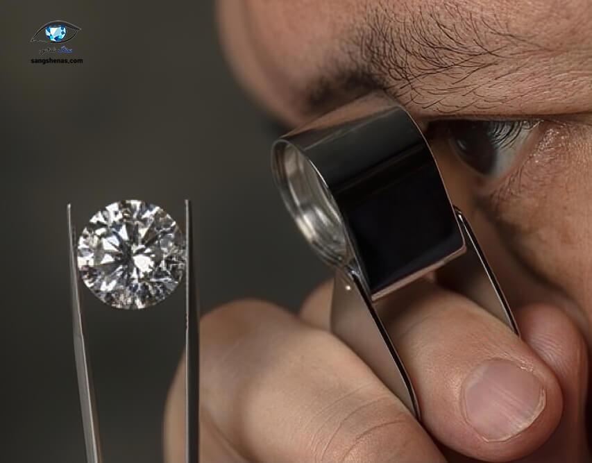 تعیین رنگ الماس