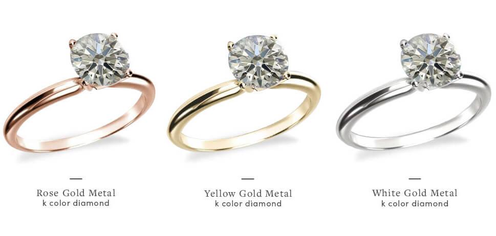 انتخاب بهترین رنگ الماس بر اساس انگشتر