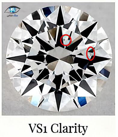 درجه پاکی VS1 در الماس
