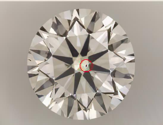 بررسی پاکی الماس VS2