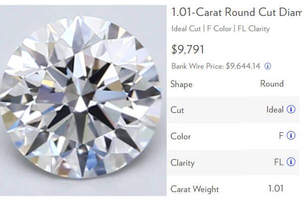 قیمت الماس FL