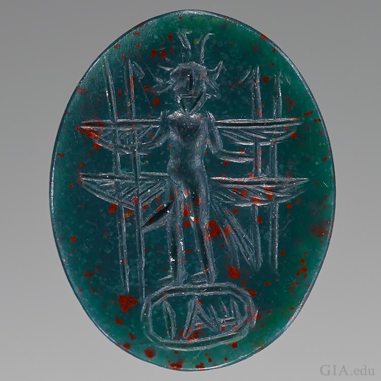 یکی از نود گوهر ، کامئو و برجسته حکاکی شده از امپراتوری روم. با مجوز از موزه J. Paul Getty