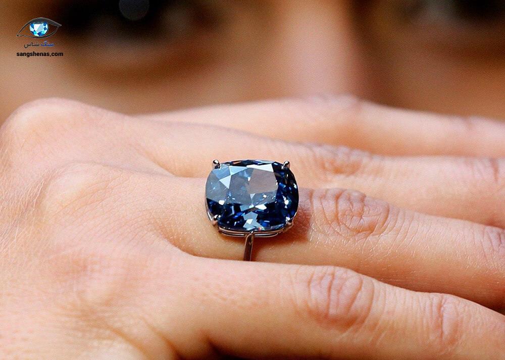 گرانترین جواهر الماس ماه آبی ژرفین در حراجی