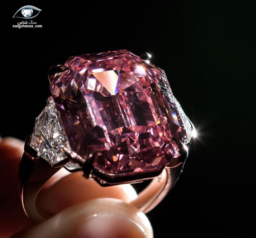 گرانترین جواهرات الماس صورتی حراج شده pink legacy