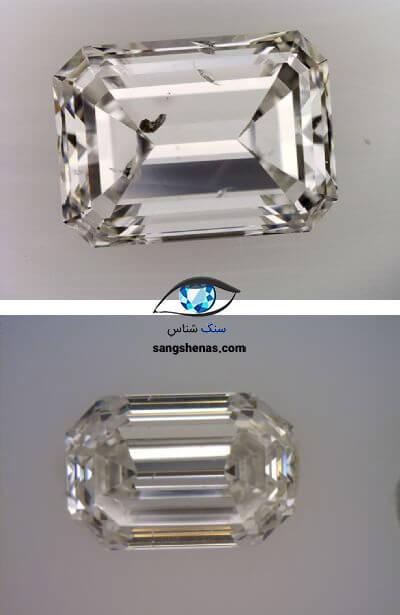 تفاوت پاکی الماس eye clean