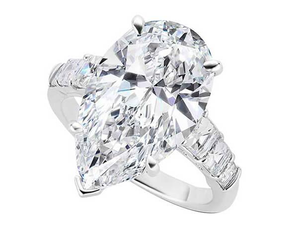 انگشتر الماس تراش اشکی