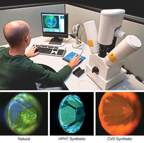 تشخیص الماس سنتتیک با دستگاه diamondview