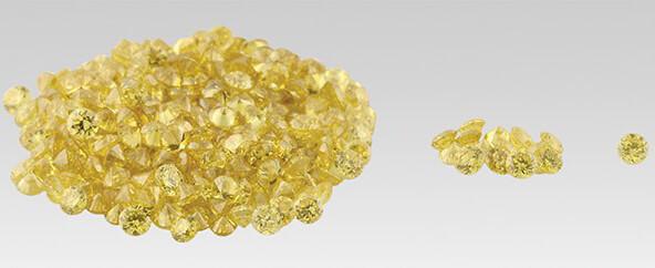 بارخانه الماس زرد که مصنوعی قاطی دارند