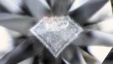 ابری به شکل الماس درون الماس طبیعی