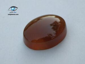 سنگ عقیق جزع قهوه ای طبیعی 5.7 گرم