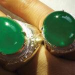 انگشترهای جادییت سبز دامله تراش well-cut و بافت Top-Icy