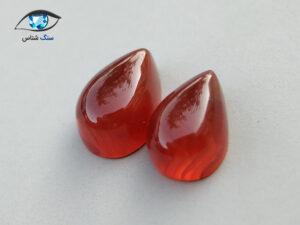 جفت عقیق سرخ طبیعی مناسب گوشواره 6.2 قیراط