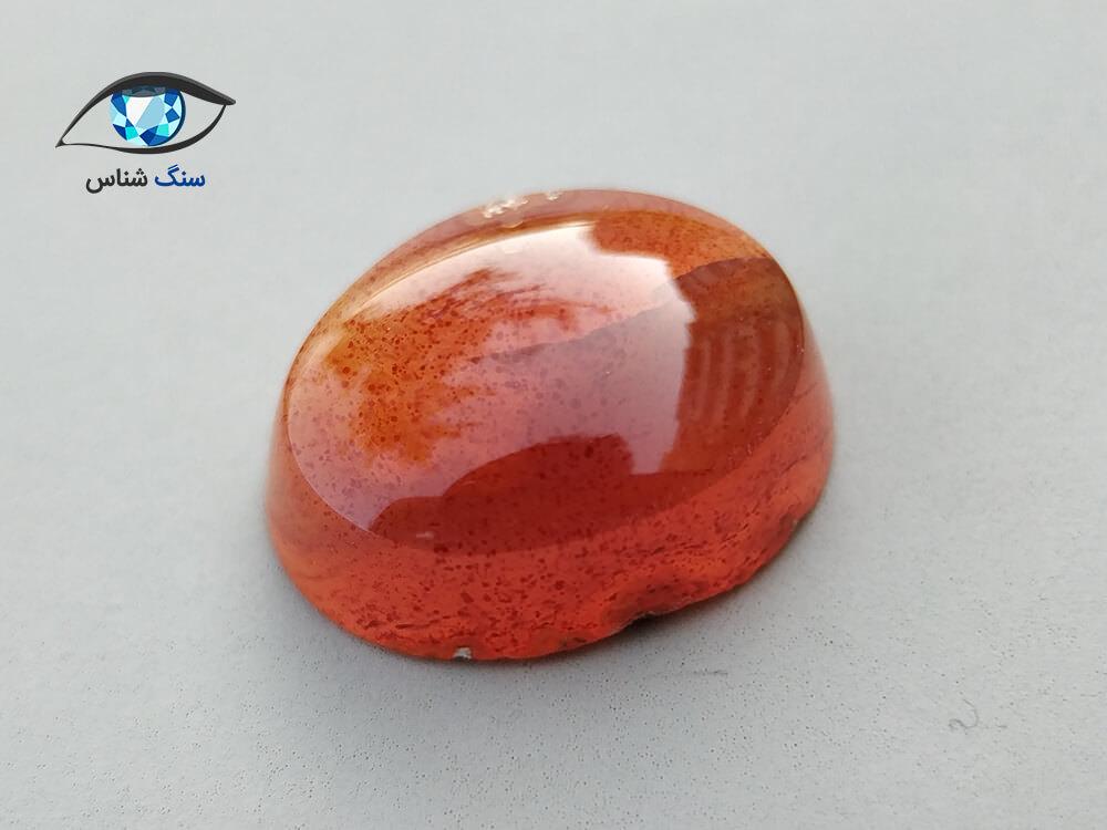 سنگ عقیق قرمز - نارنجی طبیعی 1.5 گرم