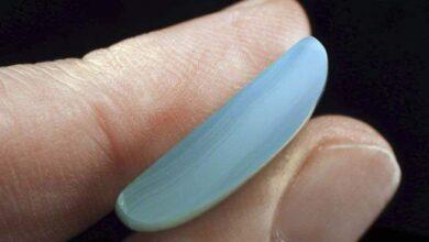 تشخیص کلسدونی آبی رنگ شده