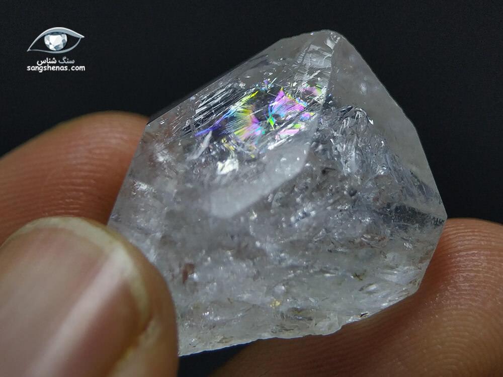 الماس هرکیمر (کوارتز) رنگین کمانی 9 گرم