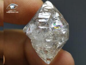 الماس هرکیمر (کوارتز) رنگینکمانی 7.5 گرم